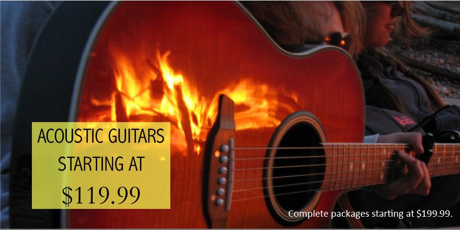 Acoustic Guitars Starting at 119.99