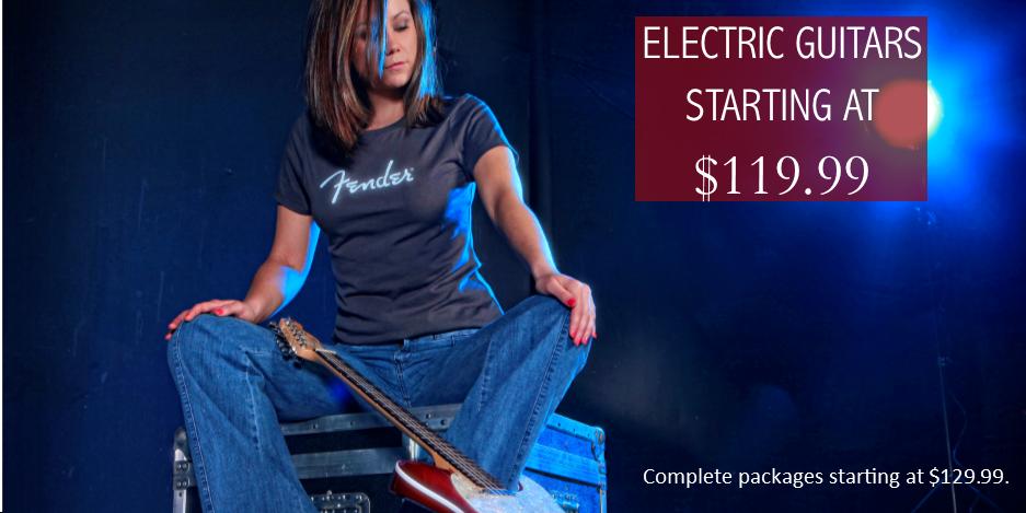 Electric guitars starting at 119.99