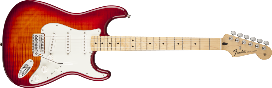 Fender Standard Stratocaster Plus Top Aged Cherry Burst Guitar