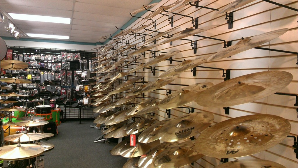 Cymbal Wall!