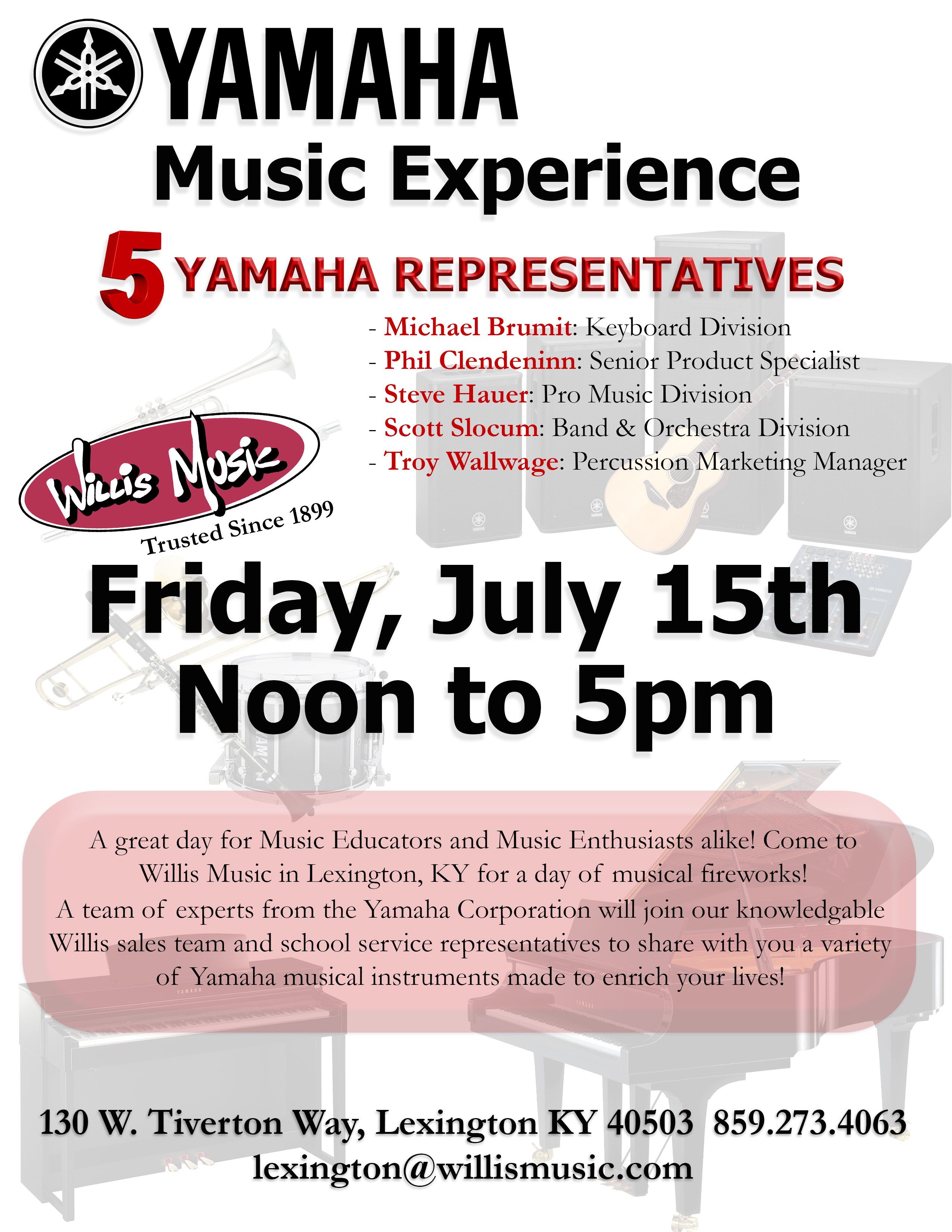 Yamaha Music Experience Flyer