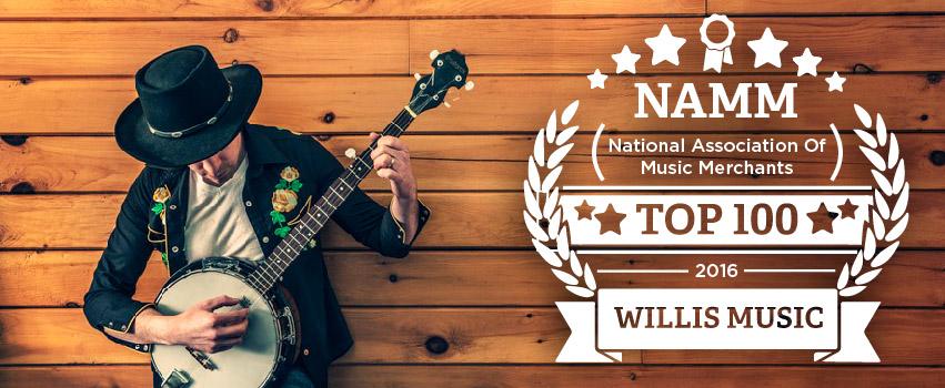 NAMM National Association of Music Merchants Top 100 2016 Willis Music