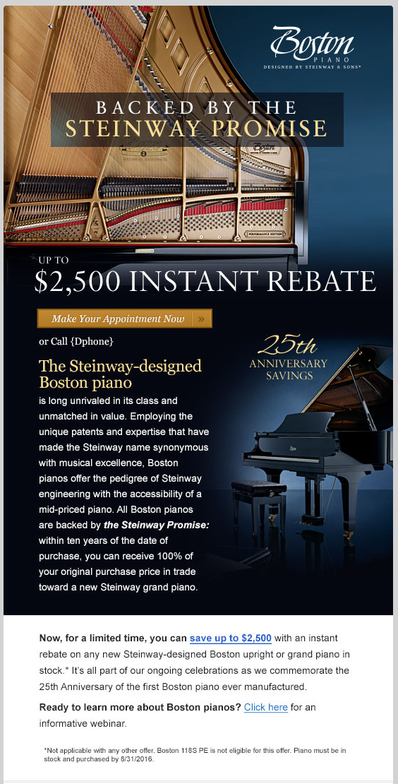 Image of Boston Rebate Promotion