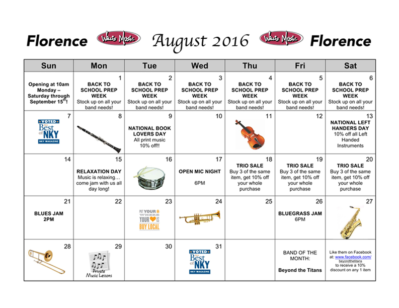 Florence August Calendar of Events