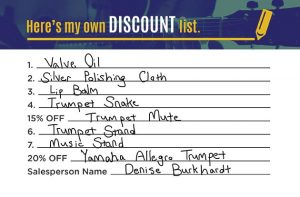 Create Your Own Discount for Band Example