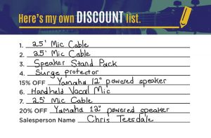 Create Your Own Discount Sound System Example