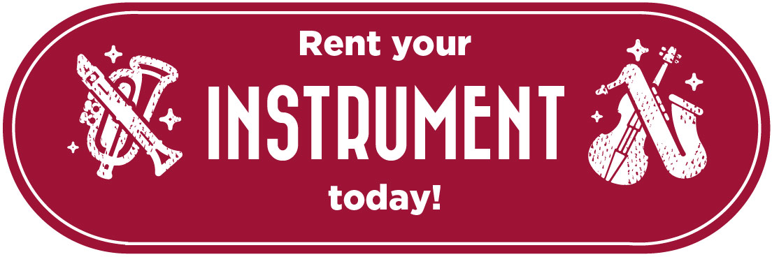 Rent Your Instrument today! Large Banner