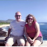 Chris and his wife in Hawaii