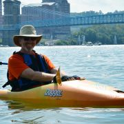 Kevin Kayaking the Ohio River