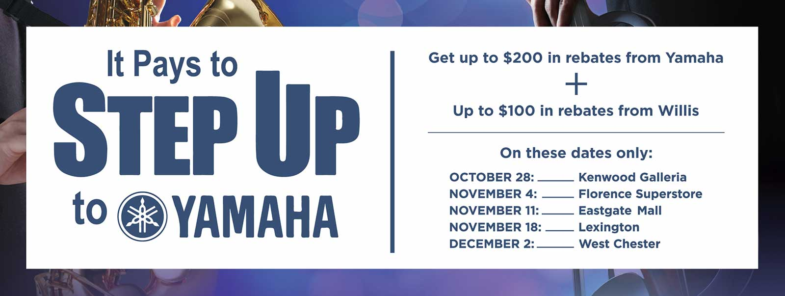 Step Up to Yamaha Banner 1600 Pixels Wide