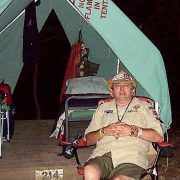 Terry on his Boy Scout trip