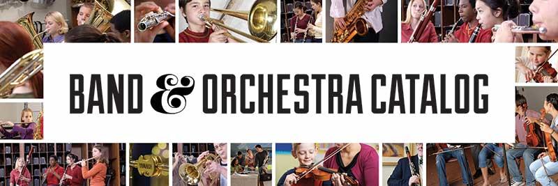 Band & Orchestra Catalog Banner