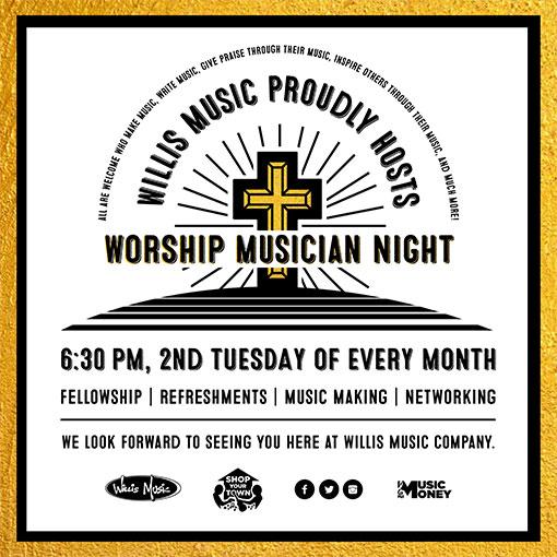 Worship Musician Night Graphic