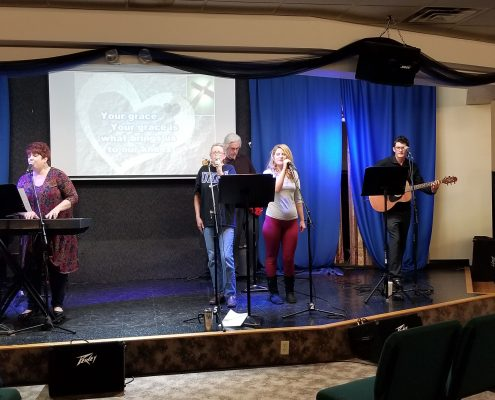 Florence United Methodist Church Praise Team At Mall Road Worship Musician Night