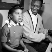 Natalie and Nat King Cole singing