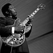 Young B.B. King playing guitar