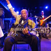 Old B.B. King playing guitar