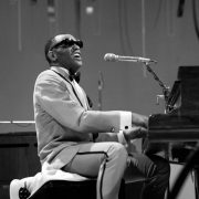 Younger Ray Charles Playing the piano