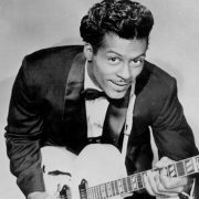 Chuck Berry playing guitar