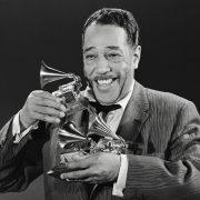 Duke Ellington holding awards
