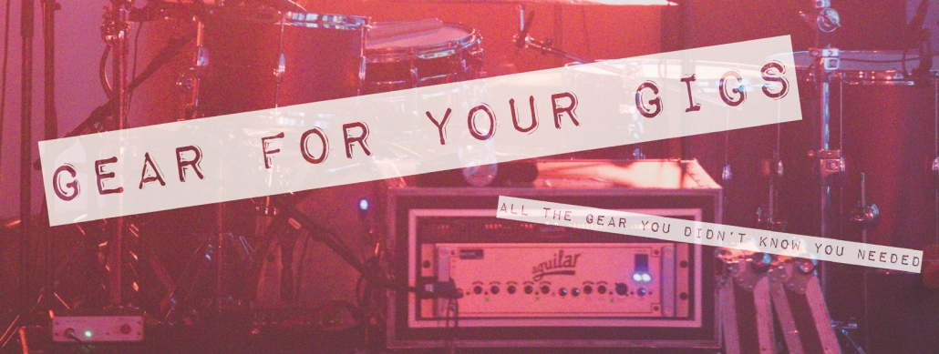 Top Banner for gear for your gigs webpage