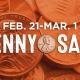 Feb. 21- Mar 1 Penny Sale