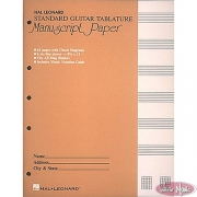 Standard Guitar Tablature Manuscript Paper
