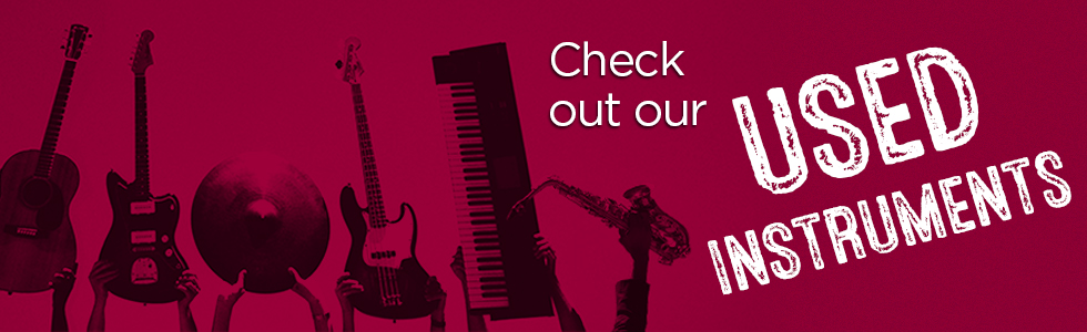 Used instrument page banner