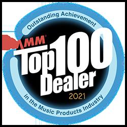 NAMM Top 100 Dealer Graphic for 2021
