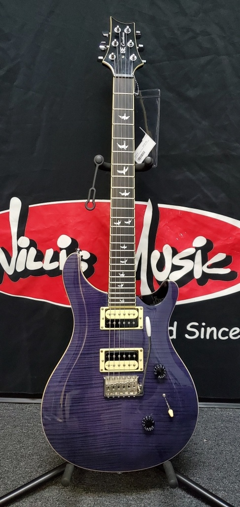 Preowned Paul Reed Smith SE Custom 24 Blue ZP02596